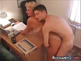 Mature Russian Boss Fucks In Her Office