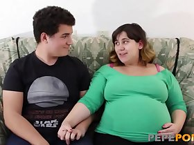 Small dicked dude loves banging her PREGGO BBW GIRLFRIEND!!!