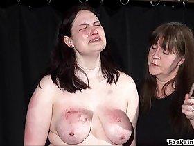 Brutal lesbian bdsm and extreme spanking of bbw amateur slavegirl Alyss