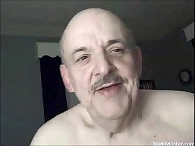 Old Daddybear Grandpa oldman likes being Filmed Swallowing Cum
