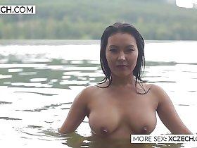 Beautiful asian water nymph making erotic swimming - XCZECH.COM