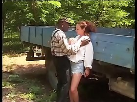 Black worker hitting on the daughter's farmer