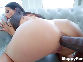 Super hot Kissa Sins interracial anal