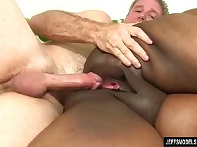 Fat Black Chick Heather Mason Sucks a Thick Cock and Then Takes It Up Her Pussy