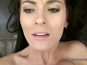 Small tittied girlfriend gets anal sex