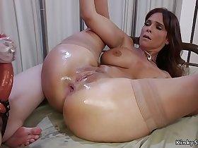 Busty Milf doctor anal fist pale lesbian