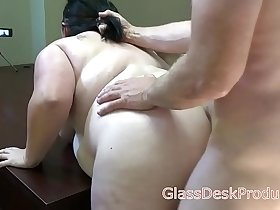 Mia Marks rough hard hair pull casting sex , GlassDeskProductions
