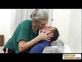 Grey hair old grandmother fucking